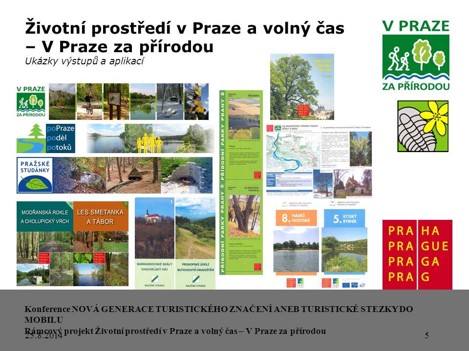 """6 Mapa: www.prazskestezky.cz Životní prostředí v Praze a volný čas – V Praze za přírodou """"klasické naučné stezky hl.m."""