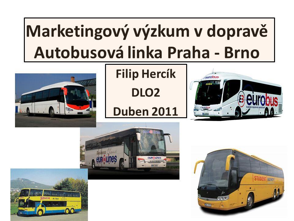 Marketingový výzkum v dopravě Autobusová linka Praha - Brno Filip Hercík DLO2 Duben 2011
