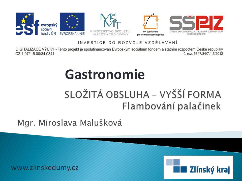 Mgr. Miroslava Malušková Gastronomie www.zlinskedumy.cz