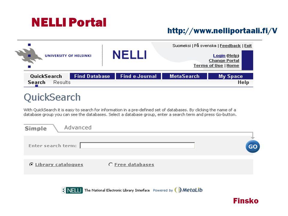 Finsko NELLI Portal http://www.nelliportaali.fi/V