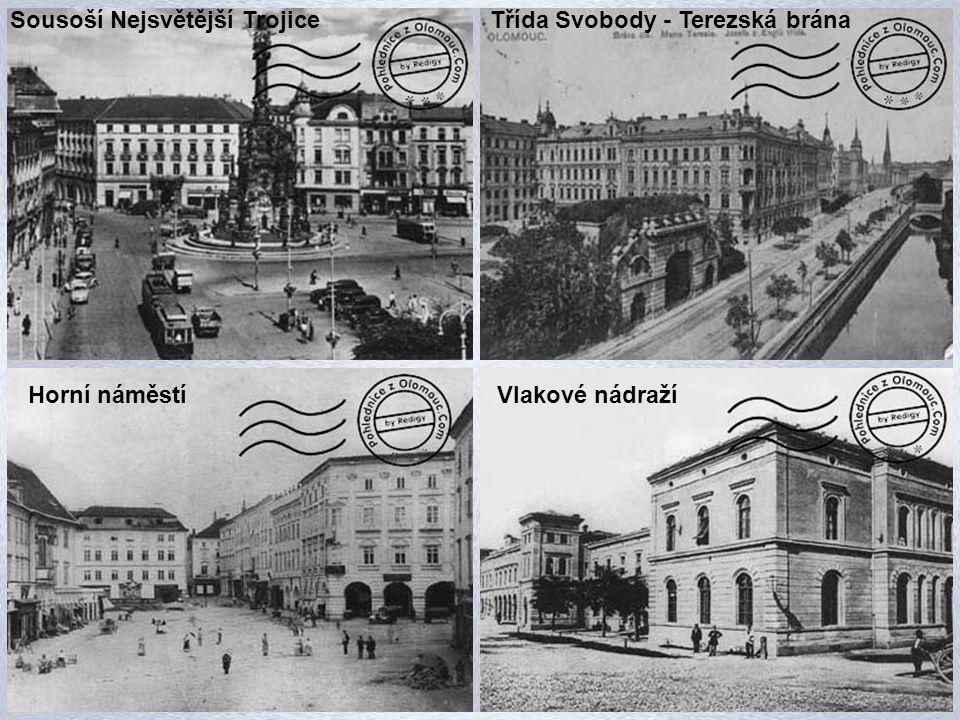 Hotel Palác Kostel Sv. Mořice Horní náměstí Sousoší Nejsvětější Trojice Hotel Národní dům