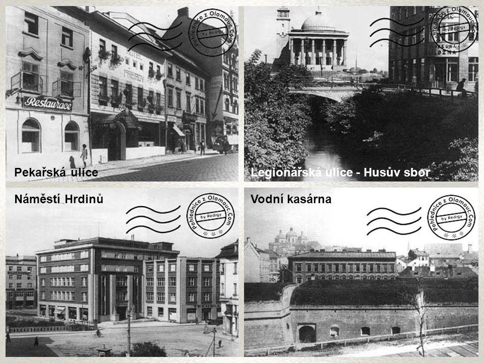 Kateřinská ulice Horní náměstí Sousoší Nejsvětější Trojice Historická Olomouc 1 Olomouc 1. poloviny 20. století