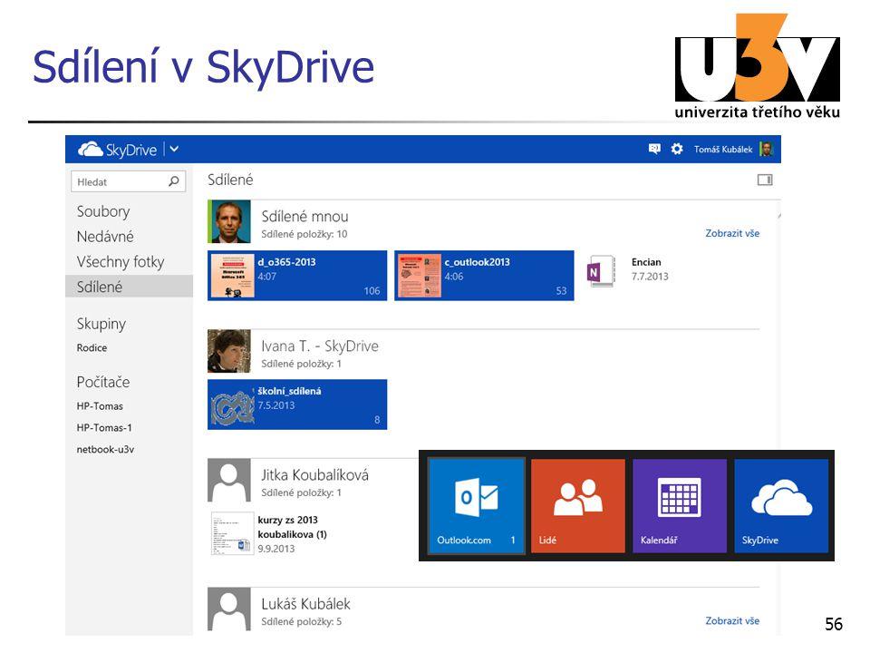Sdílení v SkyDrive 56