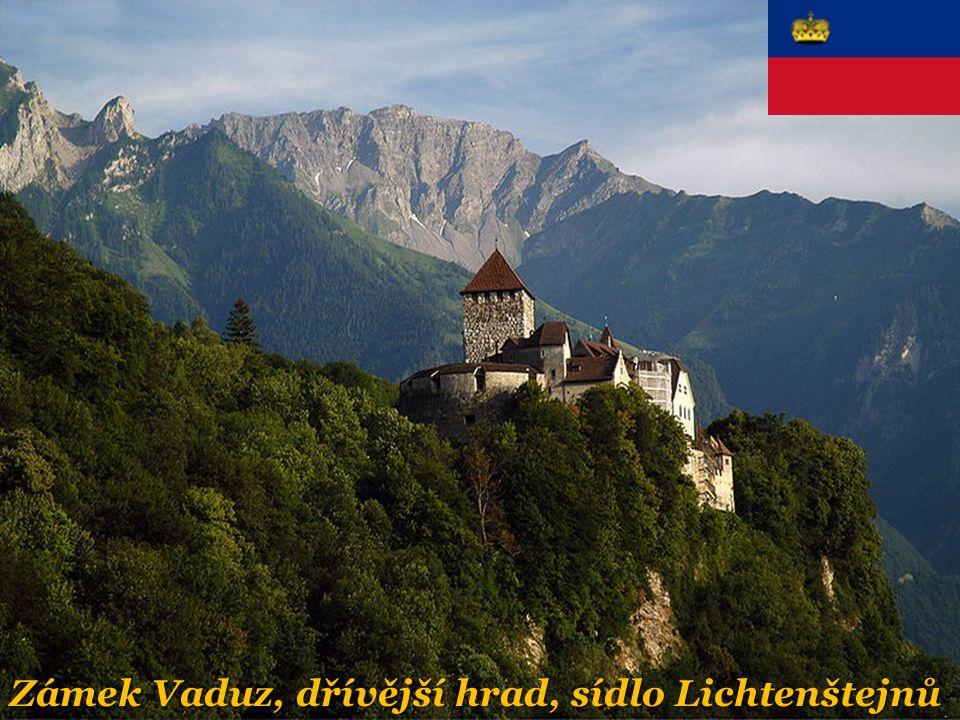 Zámek Vaduz, dřívější hrad, sídlo Lichtenštejnů