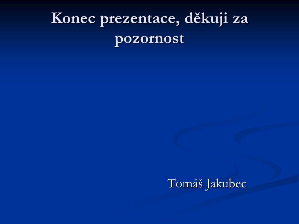 Konec prezentace, děkuji za pozornost Tomáš Jakubec