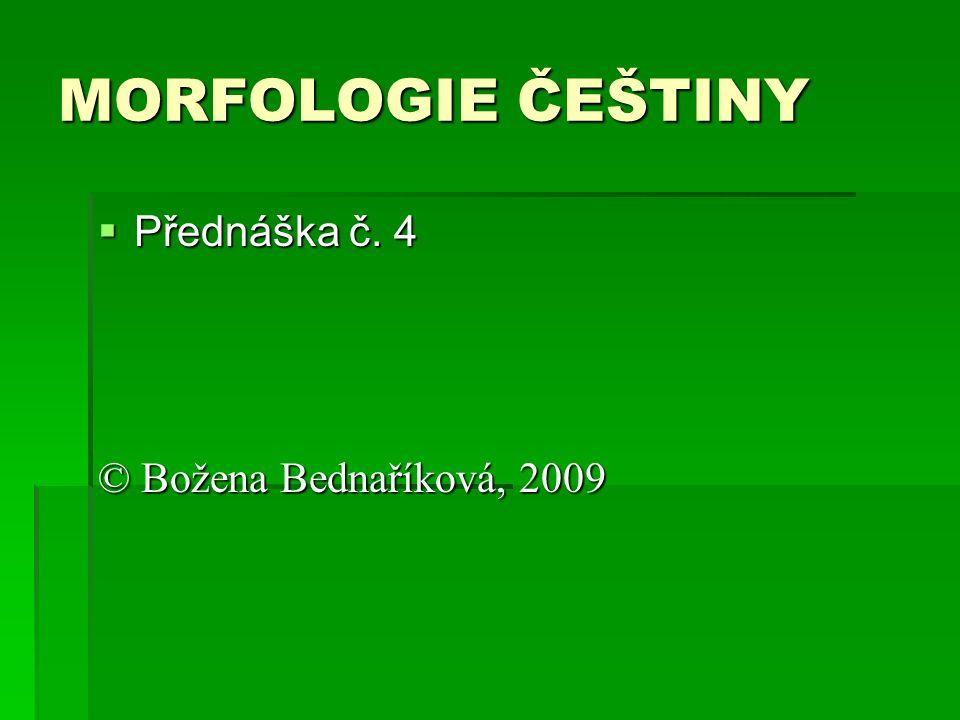 SLOVO jako SYNTAGMA  obecné metodologické premisy  SLOVO a syntagma (struktura textového slova)  syntagmatika slova  slovotvorná báze a slovotvorný formant  slovotvorný formant a spoluformant  formant/spoluformant u konverze a prefixace+konverze  tzv.
