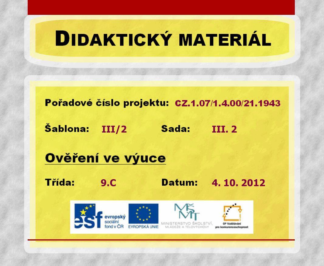 III/2 9.C III. 2 4. 10. 2012