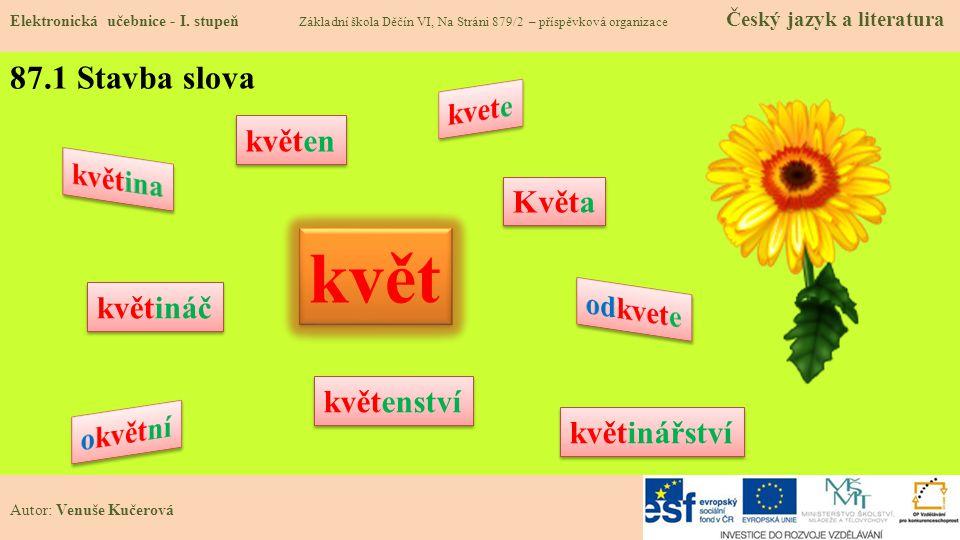 87.1 Stavba slova Elektronická učebnice - I.