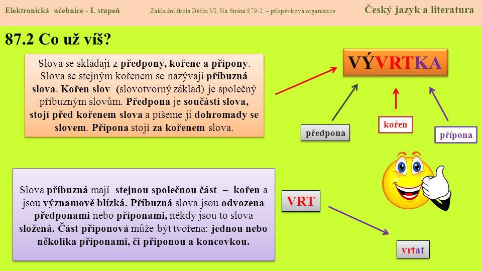 87.3 Jaké si řekneme nové termíny a názvy.Elektronická učebnice - I.