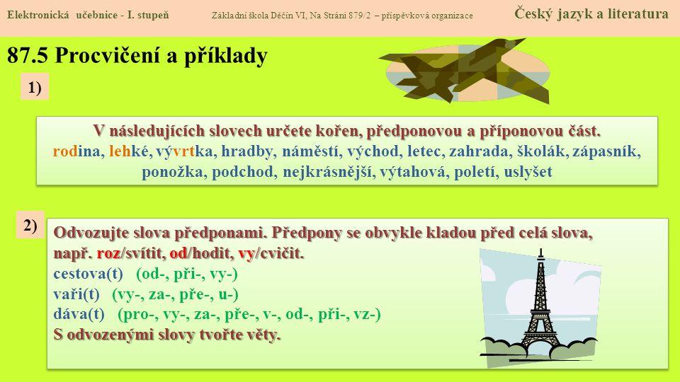 87.5 Procvičení a příklady Elektronická učebnice - I.
