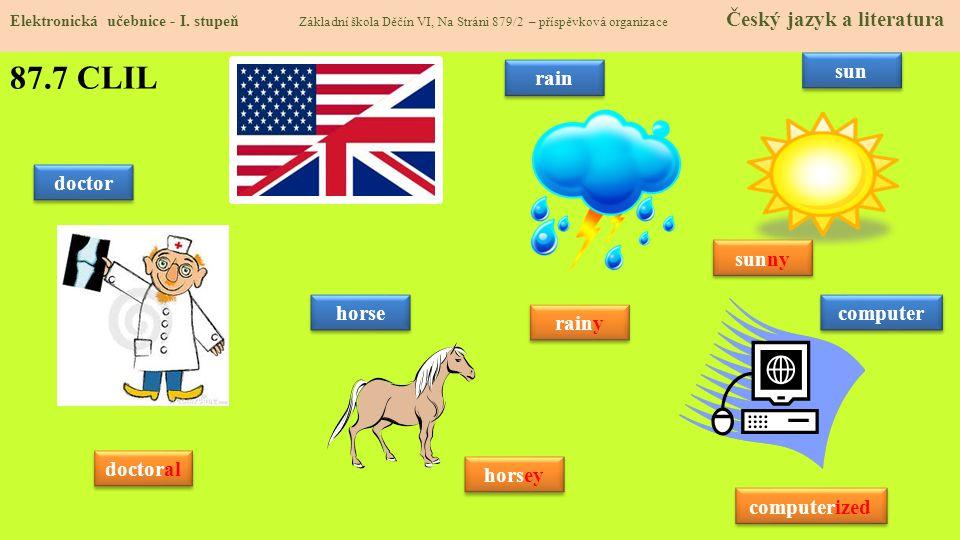 87.8 Test znalostí Správné odpovědi: 1.a 2.a 3.b 4.d Test na známku Elektronická učebnice - I.