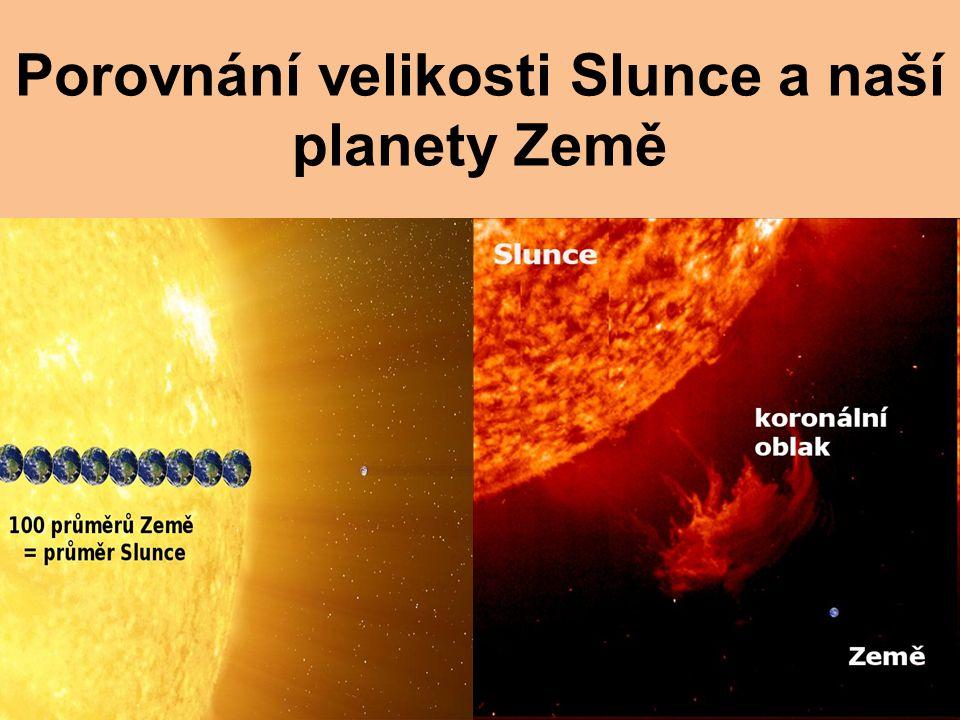 Porovnání velikosti Slunce a naší planety Země