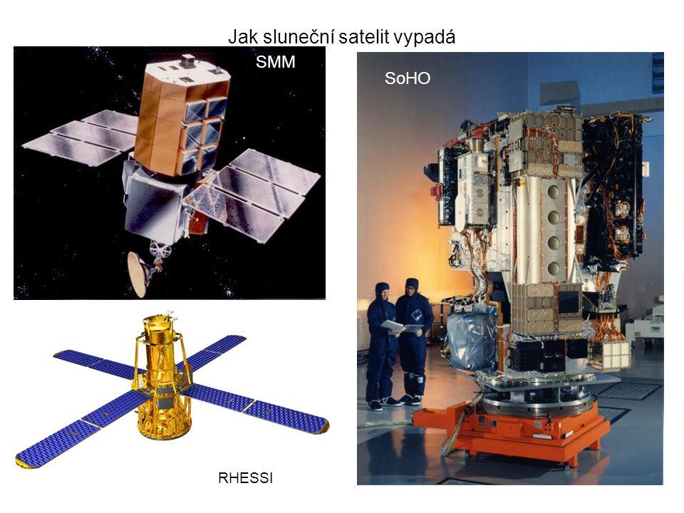 Jak sluneční satelit vypadá SMM SoHO RHESSI