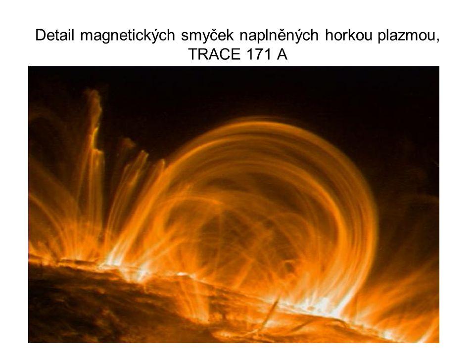 Detail magnetických smyček naplněných horkou plazmou, TRACE 171 A