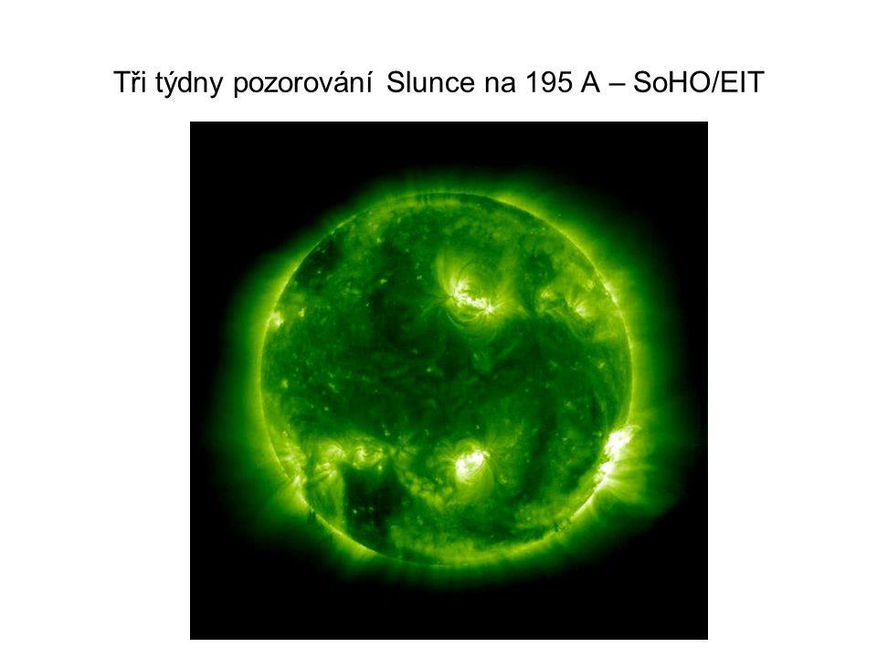 Tři týdny pozorování Slunce na 195 A – SoHO/EIT