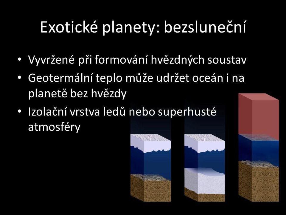 Exotické planety: bezsluneční Vyvržené při formování hvězdných soustav Geotermální teplo může udržet oceán i na planetě bez hvězdy Izolační vrstva led