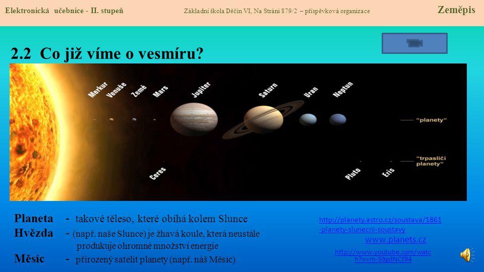 2.2 Co již víme o vesmíru.