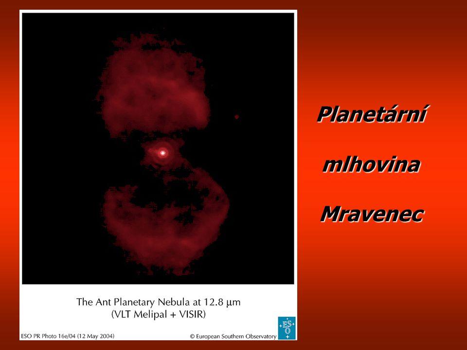 Planetární mlhovina M27 Činka, tentokrát zblízka a s bílým trpaslíkem uvnitř