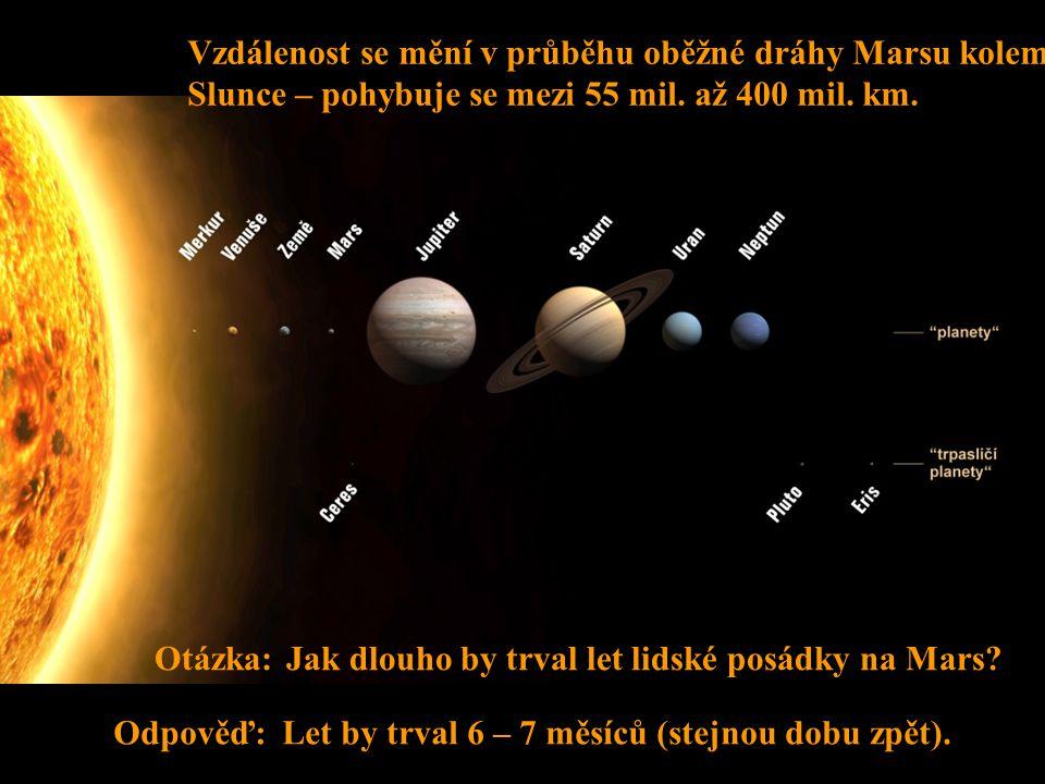 Střední vzdálenost Země od Slunce je 149 600 000 km.