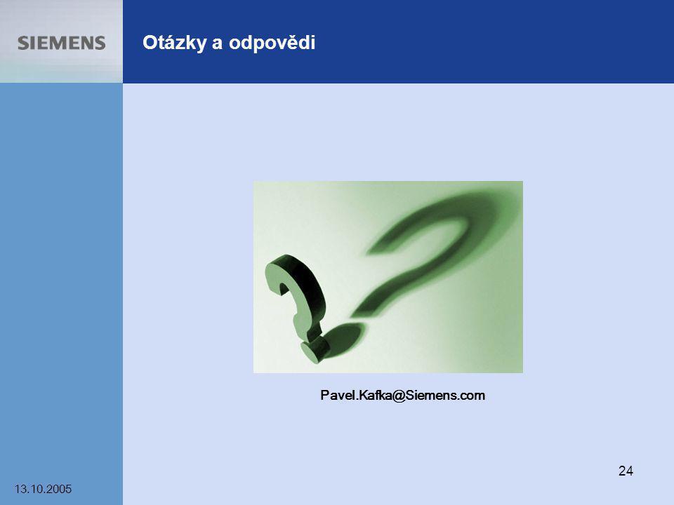 13.10.2005 24 Otázky a odpovědi Pavel.Kafka@Siemens.com