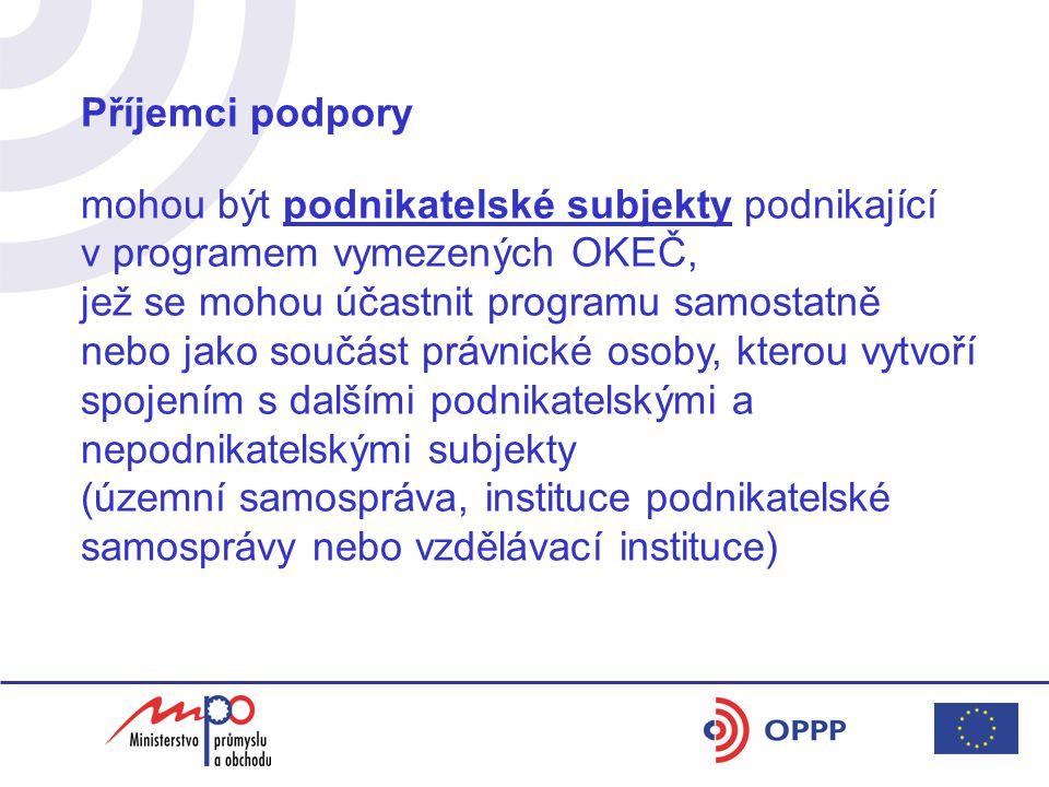Vymezení oblastí podpory pro MSP (dle Nařízení EK č.