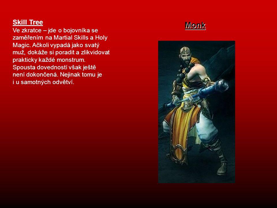 Skill Tree Ve zkratce – jde o bojovníka se zaměřením na Martial Skills a Holy Magic. Ačkoli vypadá jako svatý muž, dokáže si poradit a zlikvidovat pra