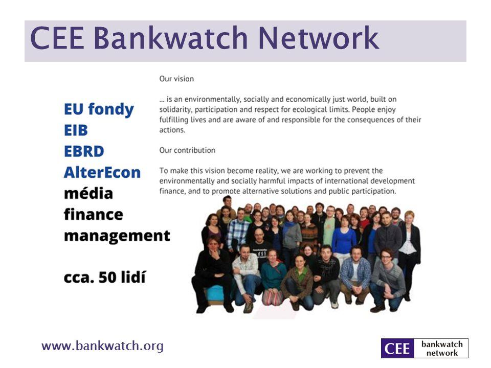 Obsah Evropa, energie a klima – souvislosti Úspory, obnovitelné zdroje a snižování emisí do roku 2020 Jak dál – do roku 2050 Finance EU pro klima: evropské fondy Vize CEE Bankwatch Network www.bankwatch.org
