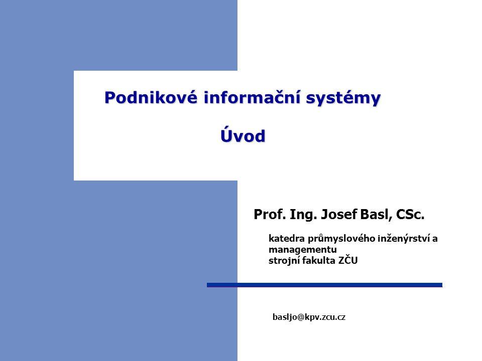 PIS 01, LS 2 Historie – základní moduly ERP – př. SAP / R3