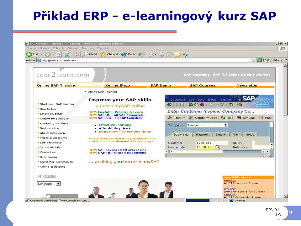 PIS 01, LS 5 Business Intelligence, manažerské aplikace Interní infrastruktura Prodej, nákup, sklady, výroba Finance, Control- liing,..