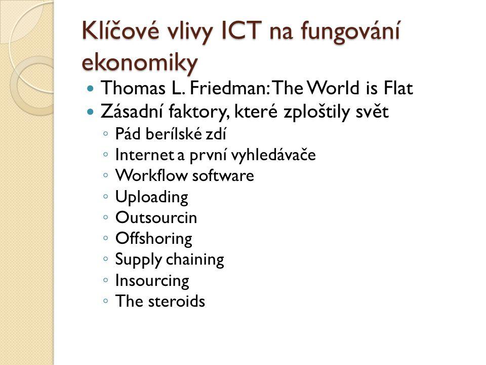 Klíčové vlivy ICT na fungování ekonomiky Thomas L.