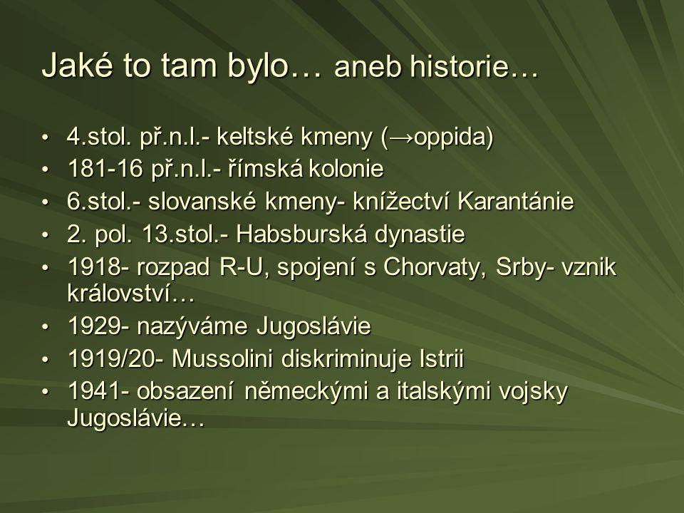 Jaké to tam bylo… aneb historie… 1945- součástí socialistické Jugoslávie- Lidová republika Slovinsko 1945- součástí socialistické Jugoslávie- Lidová republika Slovinsko Od r.