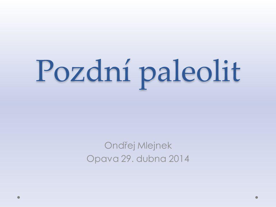 Pozdní paleolit Ondřej Mlejnek Opava 29. dubna 2014
