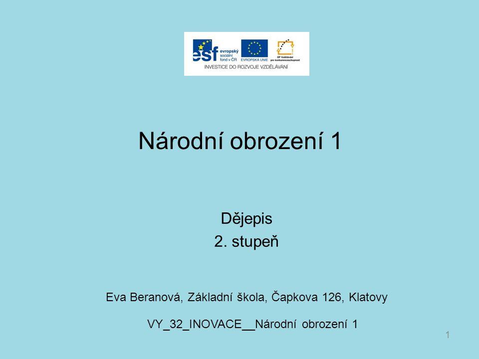 Národní obrození 1 Dějepis 2.
