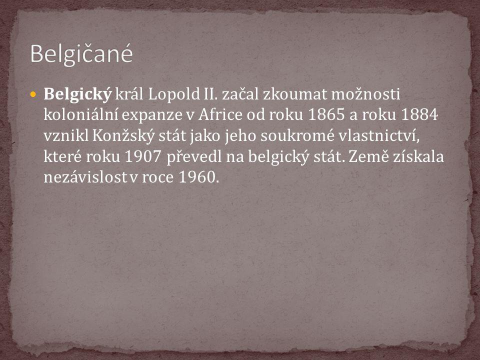 Belgický král Lopold II. začal zkoumat možnosti koloniální expanze v Africe od roku 1865 a roku 1884 vznikl Konžský stát jako jeho soukromé vlastnictv
