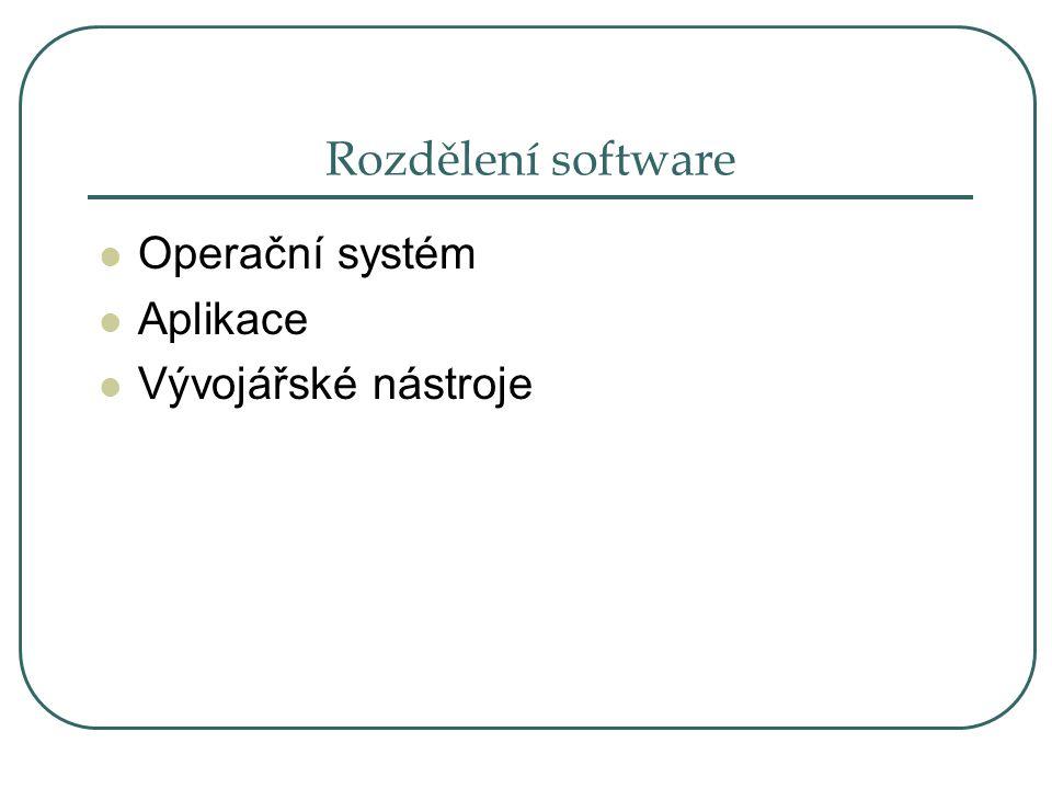 Operační systém Je prostředím mezi uživatelem a hardwarem, pro ovládání PC je naprosto nezbytný.