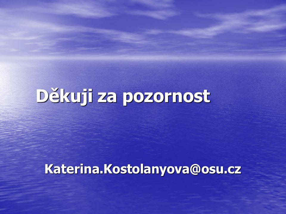 Děkuji za pozornost Katerina.Kostolanyova@osu.cz