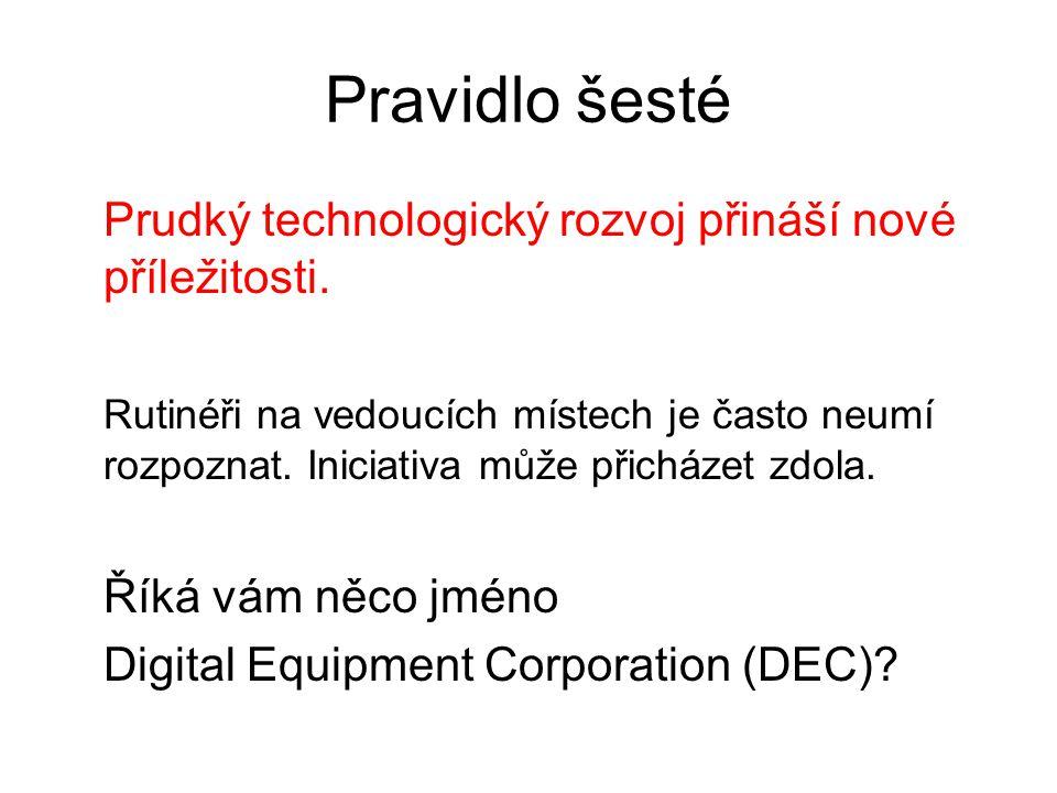 Pravidlo šesté Prudký technologický rozvoj přináší nové příležitosti.