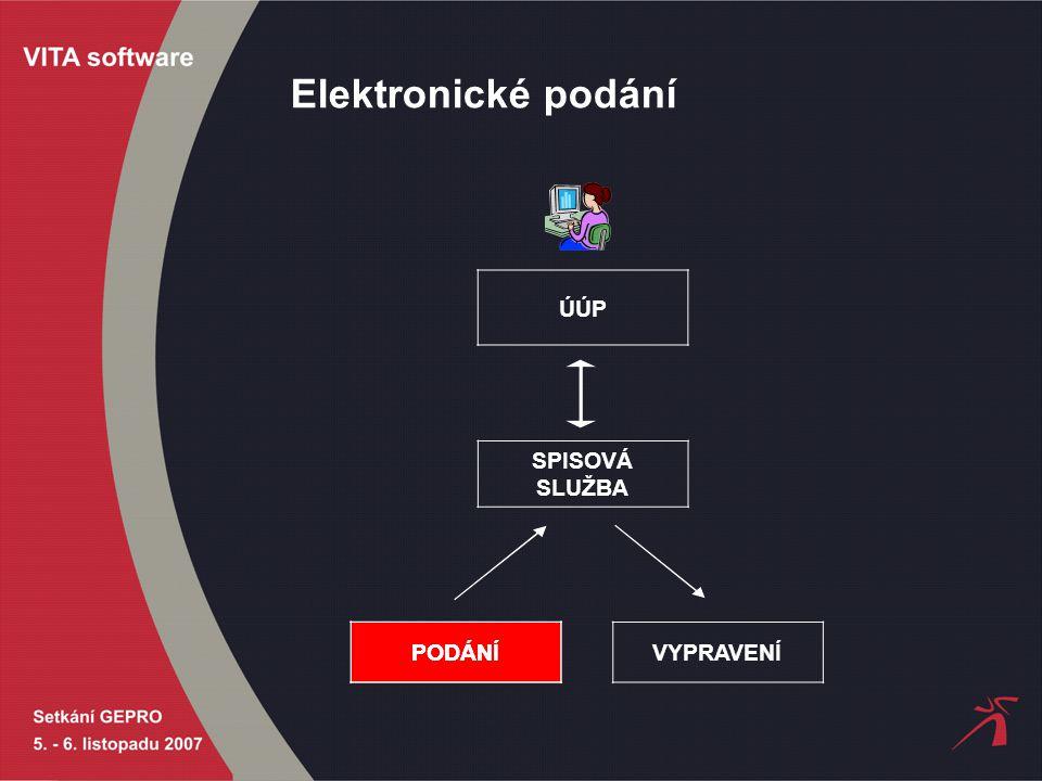Elektronické podání ÚÚP SPISOVÁ SLUŽBA PODÁNÍ VYPRAVENÍPODÁNÍ