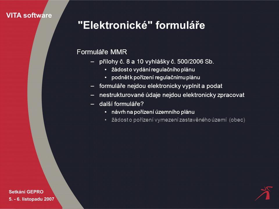 Elektronické formuláře Formuláře MMR –přílohy č.