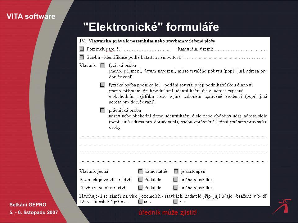 Elektronické formuláře úředník může zjistit!