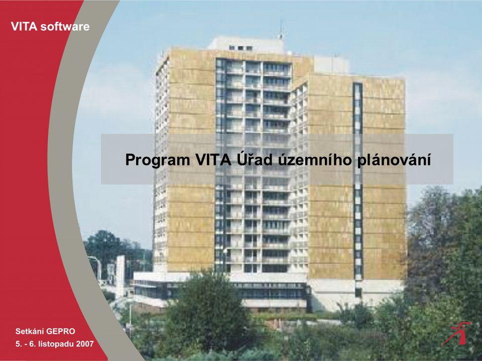 Program VITA Úřad územního plánování
