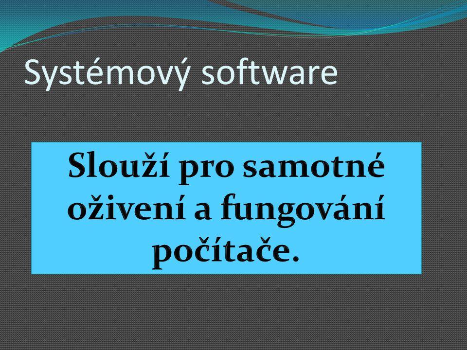Systémový software K čemu slouží?