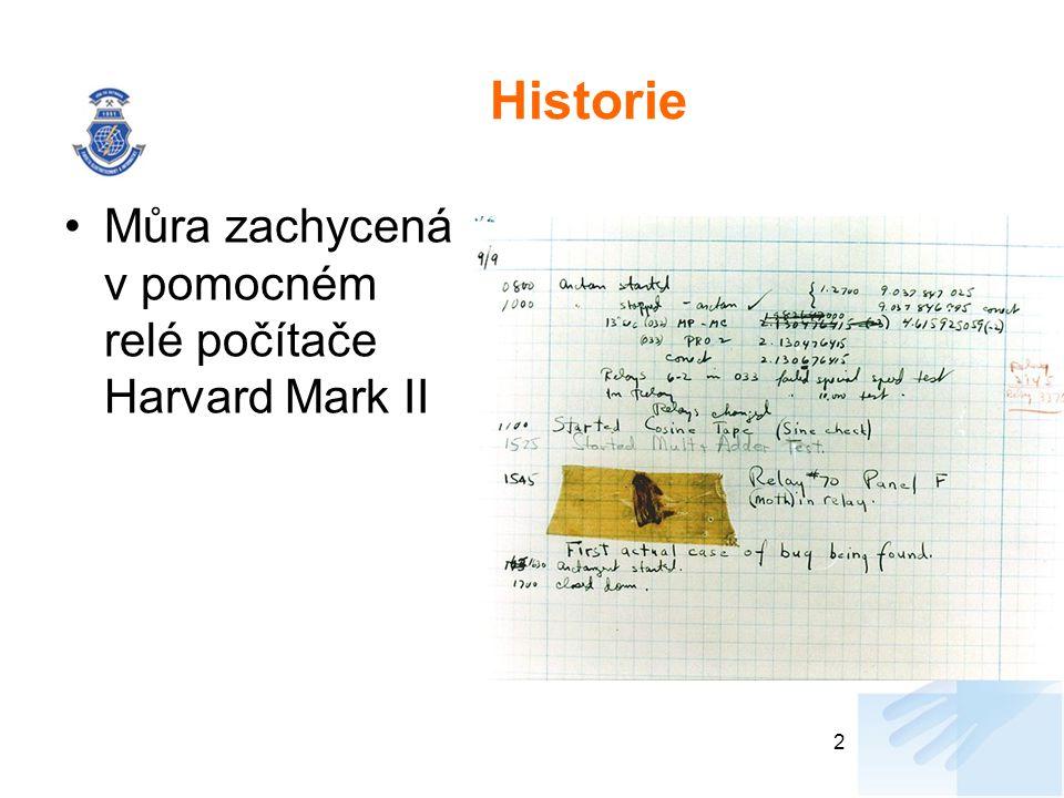 Historie Můra zachycená v pomocném relé počítače Harvard Mark II 2