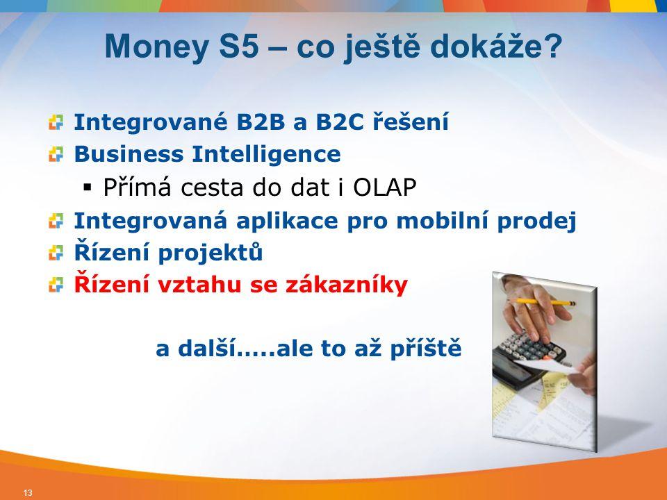 Integrované B2B a B2C řešení Business Intelligence  Přímá cesta do dat i OLAP Integrovaná aplikace pro mobilní prodej Řízení projektů Řízení vztahu s