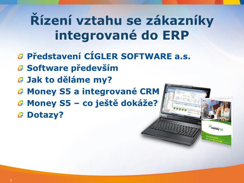 Vývoj, prodej a podpora účetních/ ekonomických/podnikových/ERP systémů  Řešení pro firmy všech velikostí Více jak 50 000 zákazníků, 80 kmenových zaměstnanců a stovky telefonů denně  Vysoké nároky na systémy pro podporu vztahu se zákazníky 3 Představení CÍGLER SOFTWARE a.s.