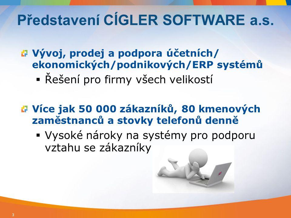 Vývoj, prodej a podpora účetních/ ekonomických/podnikových/ERP systémů  Řešení pro firmy všech velikostí Více jak 50 000 zákazníků, 80 kmenových zamě