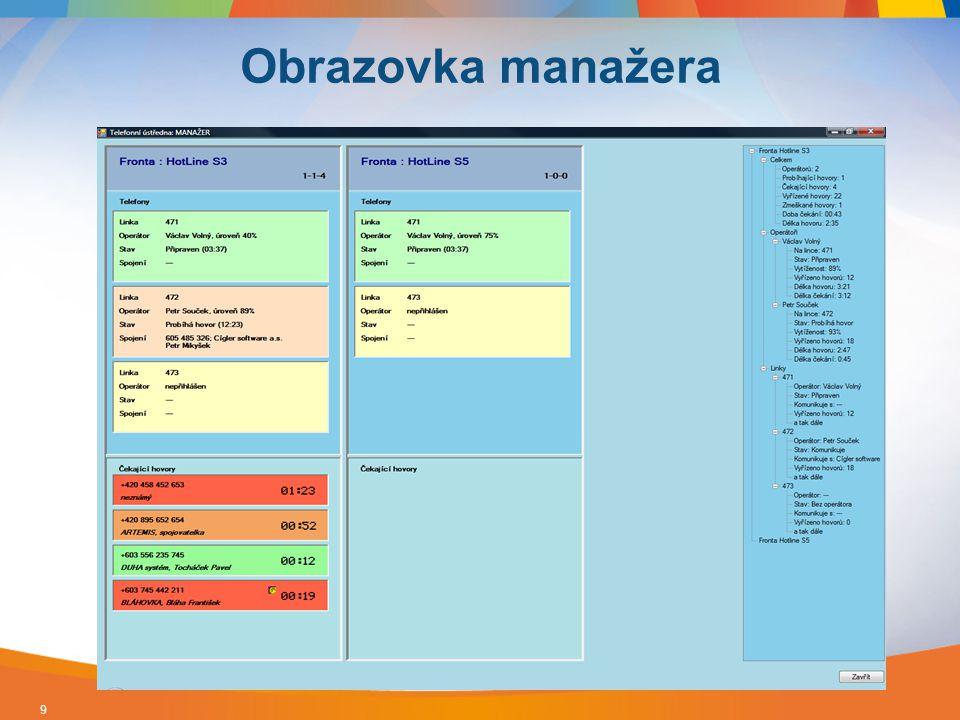 Jednotný adresář Evidence Obchodních případů, Zakázek, Projektů Přímá vazba na primární doklady – objednávky, faktury… Připojené dokumenty – nabídky, smlouvy, záznamy o hovoru… Kompletní business logika ERP systému 10 Money S5 a integrované CRM