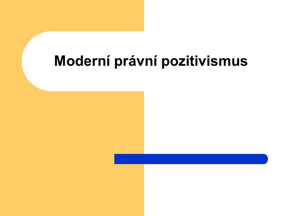 Moderní právní pozitivismus