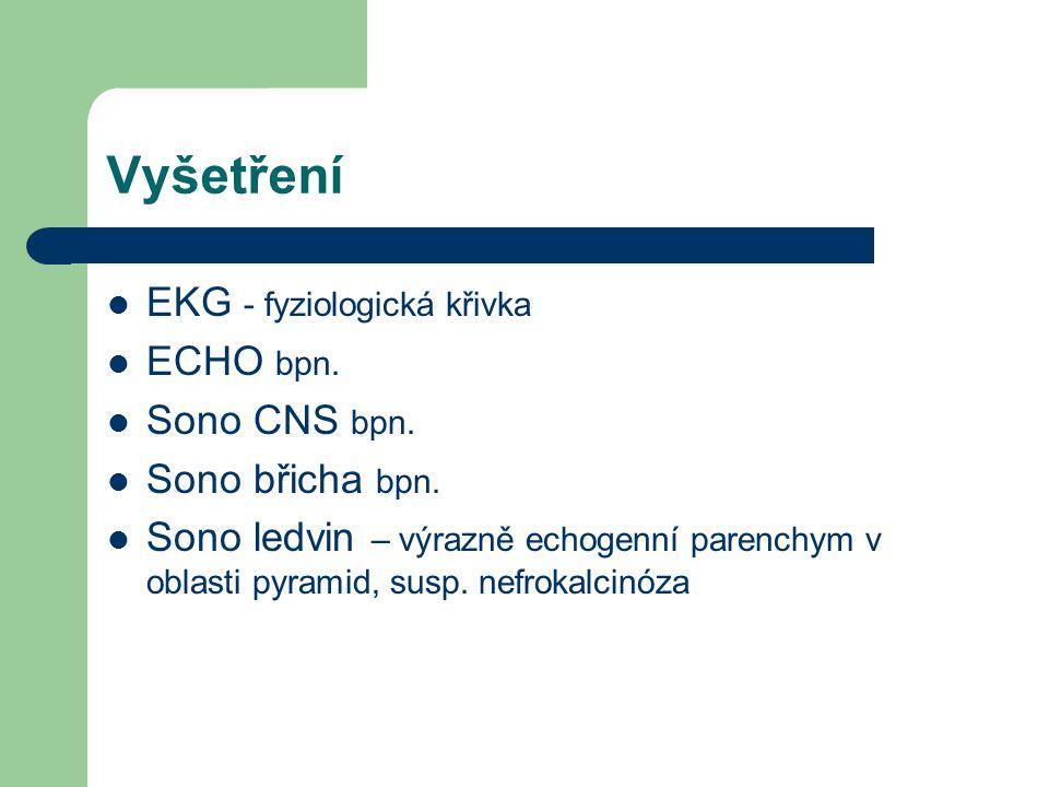 Vyšetření EKG - fyziologická křivka ECHO bpn.Sono CNS bpn.