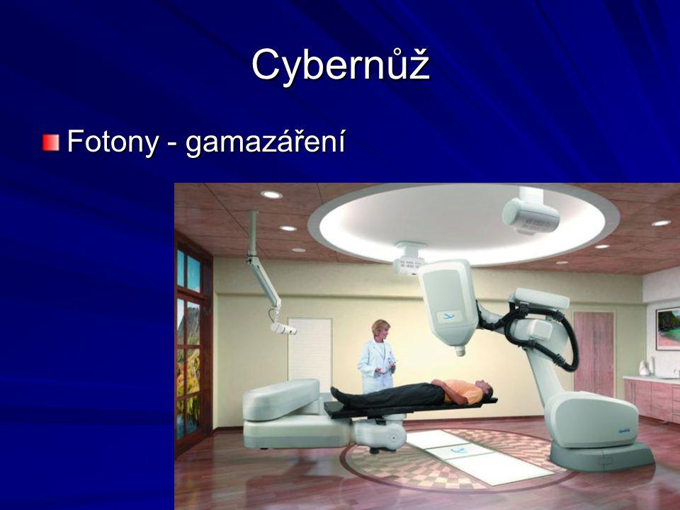 Cybernůž Fotony - gamazáření